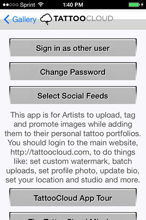 App Tour settings screenshot