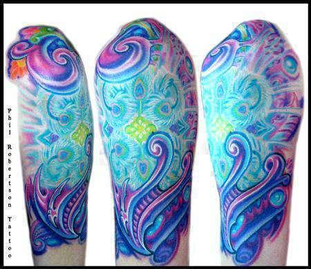 Girl-biomech-mandala-color-tattoo1