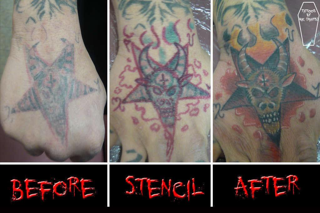 Nikpants Pentacoverup Satanic Satan Goat Pentagram Redo Coverup Fix