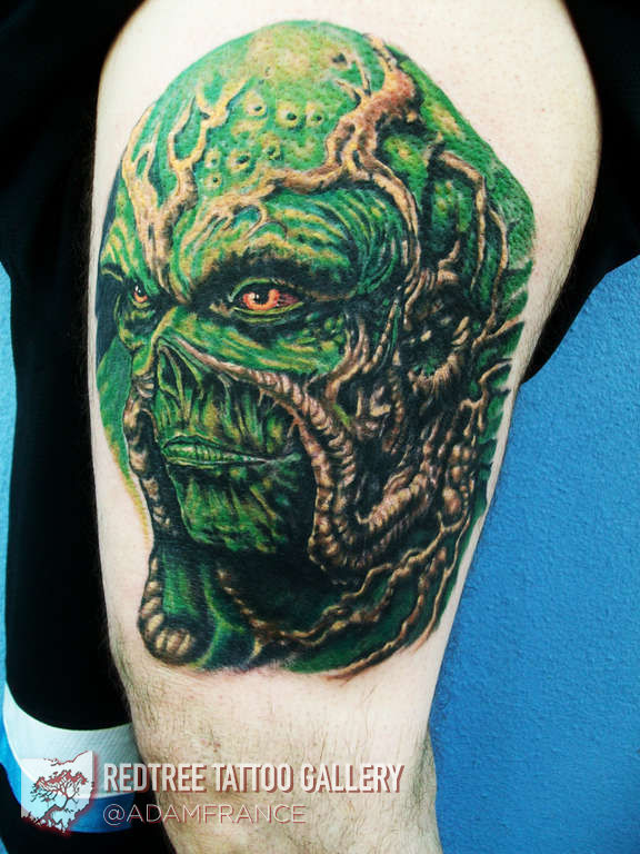 Adamfrance Swamp Thing Tattoo Swamp Thing Movie Character