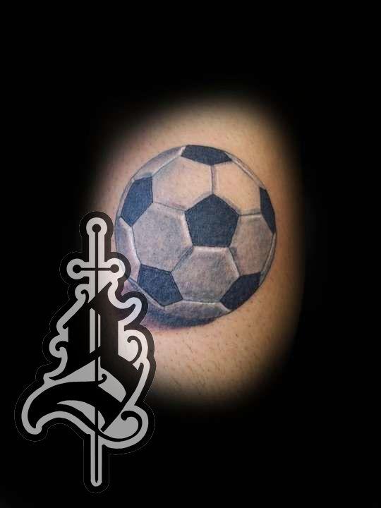 Soccar_ball_tattoo