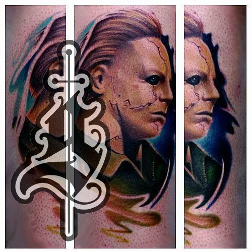 Mike_meyers_tattoo_color_portrait_leg_jason_frieling
