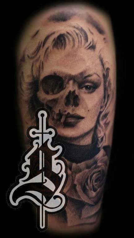 Marilyn_monroe_tattoo_jason_frieling_arm_black_and_grey