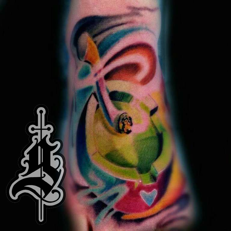 Cigarette_foot_3d_tattoo_color_surealism_jason_frieling_art