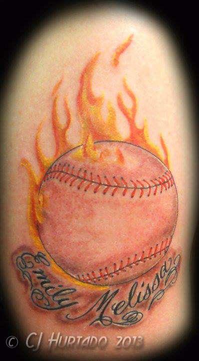 Baseball-fire