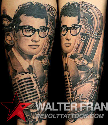 Club-tattoo-walter-sausage-frank-las-vegas-planet-hollywood-buddy-holly-portrait-jpg