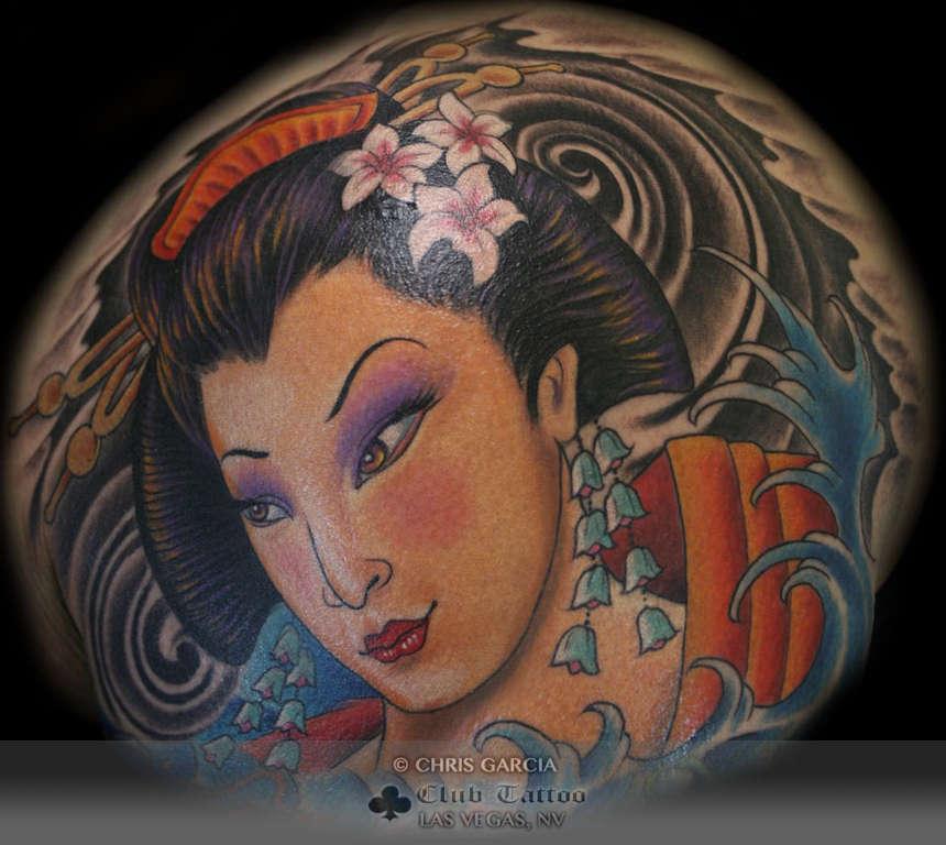 Chrisgarcia geisha japanese for Las vegas tattoo artists