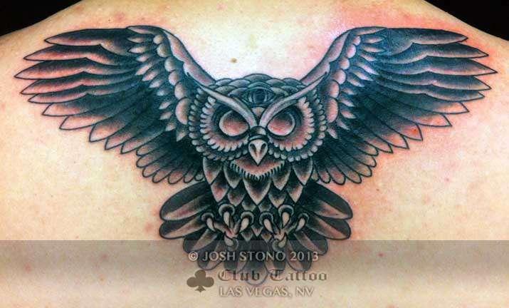 Club-tattoo-josh-stono-las-vegas-traditional-owl