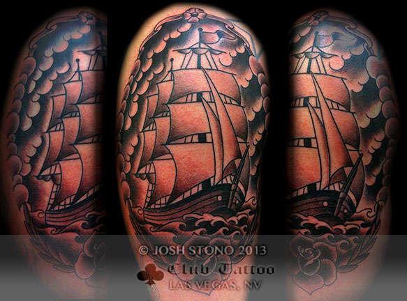 Club-tattoo-josh-stono-las-vegas-planet-hollywood-miracle-mile-shops-ship-traditiona