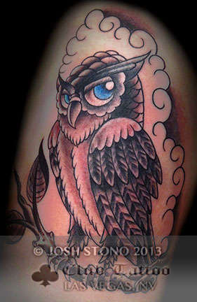 Club-tattoo-josh-stono-las-vegas-planet-hollywood-miracle-mile-shops-owl