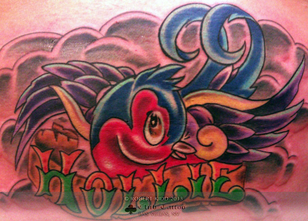 Robertkidd bird new skool new school swallow cute name hollie for New skool tattoos