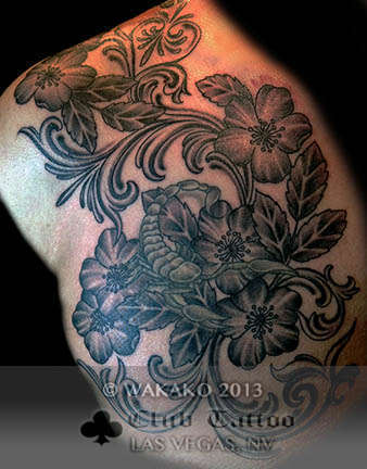 Club-tattoo-wakako-las-vegas-flowers