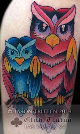 Club-tattoo-jason-tritten-las-vegas-tradtional-owl