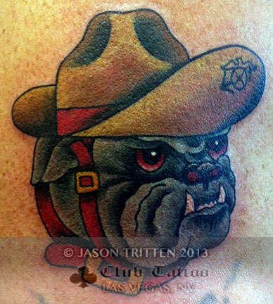 Club-tattoo-jason-tritten-las-vegas-tradtional-marine-bulldog