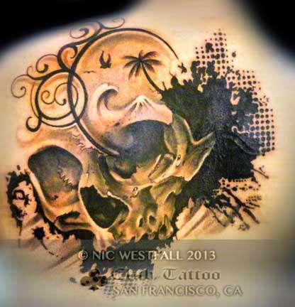 Club-tattoo-nic-westfall-san-francisco-pier-39-skull