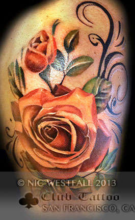 Club-tattoo-nic-westfall-san-francisco-pier-39-rose