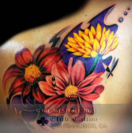 Club-tattoo-nic-westfall-san-francisco-pier-39-floral-flowers-1