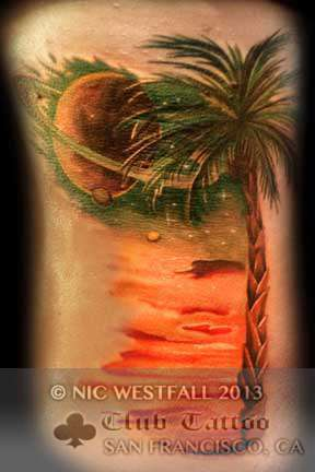 Club-tattoo-nic-westfall-san-francisco-palm-tree