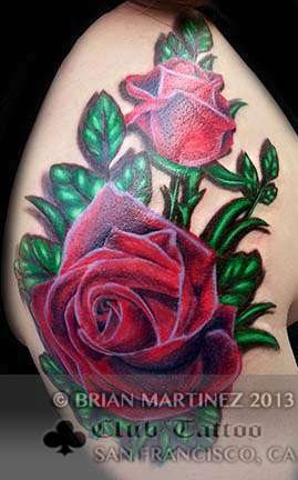 Club-tattoo-brian-martinez-san-francisco-pier-39-roses