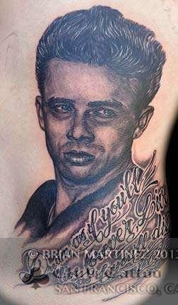 Club-tattoo-brian-martinez-san-francisco-pier-39-james-dean