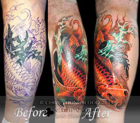 Club-tattoo-chris-youngblood-san-francisco-pier-39-koi