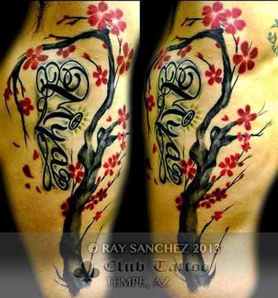 Club-tattoo-ray-sanchez-tempe-cherry-blossom-tree