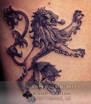 Club-tattoo-john-jenerou-scottsdale-lion
