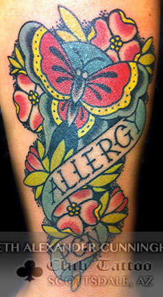 Club-tattoo-seth-alexander-cunningham-scottsdale-traditional-butterfly