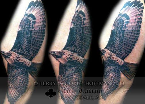 Club-tattoo-terry-wookie-hoffman-scottsdale-red-tailed-hawk