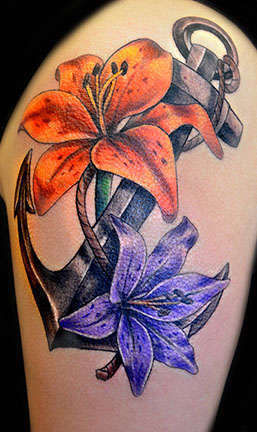 Club-tattoo-shay-milford-mesa-anchor-flowers