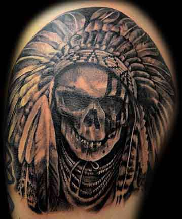 Club-tattoo-shay-milford-mesa-chief-skull