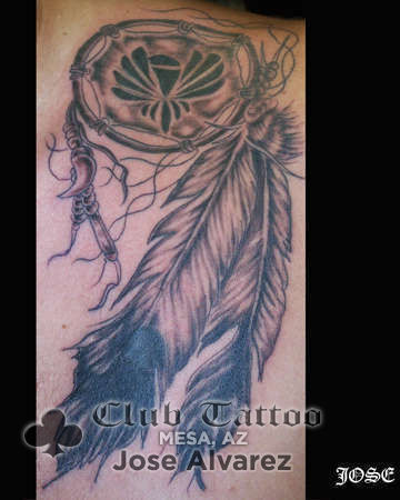 Josealvarez dream catcher feathers for Club tattoo mesa