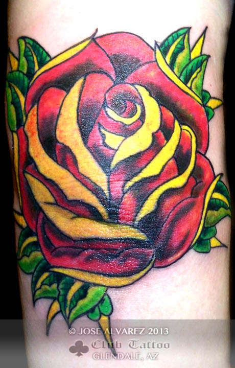 Josealvarez rose color for Club tattoo mesa