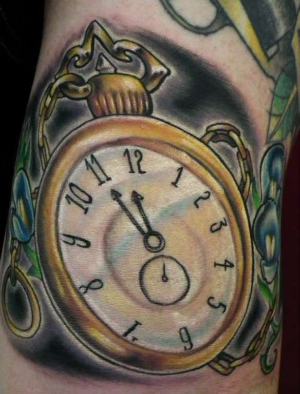 Jamesditch Tattoo Times Running Out Pocket Watch Clock Time