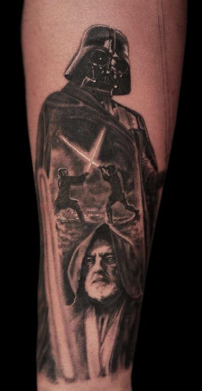 Ericdsouza light saber luke skywalker darth vader starwars for Luke skywalker tattoo