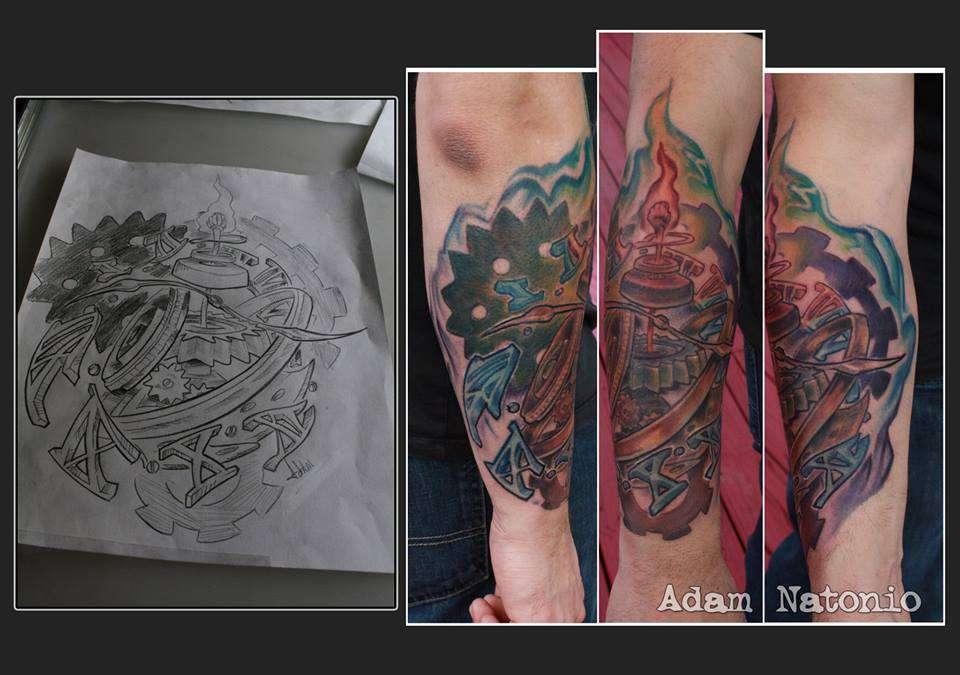 Adamnatonio Artist Adam Natonio Time Clock Exploding