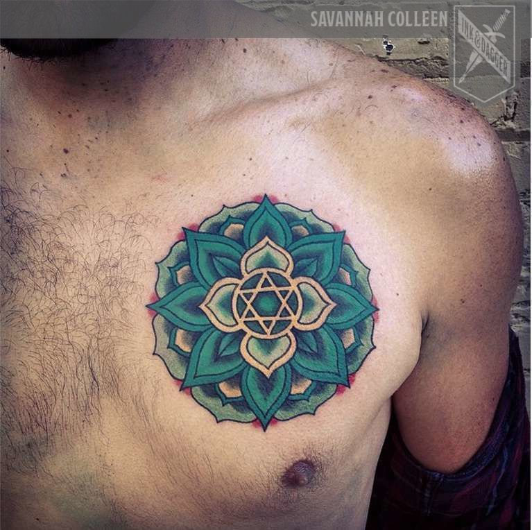 Savannahcolleen ink and dagger tattoo sacred geometry chakra for Sacred ink tattoo