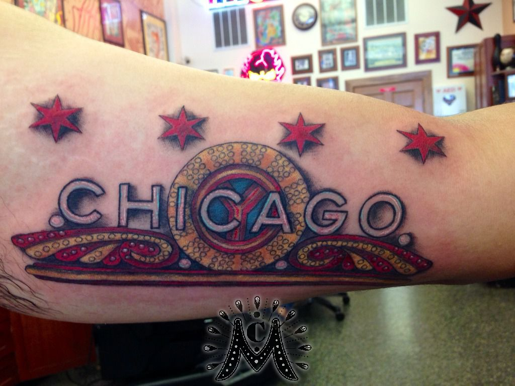 Guerramarz chicago tattoo chicago sign chicago theater for Tattoo studio chicago