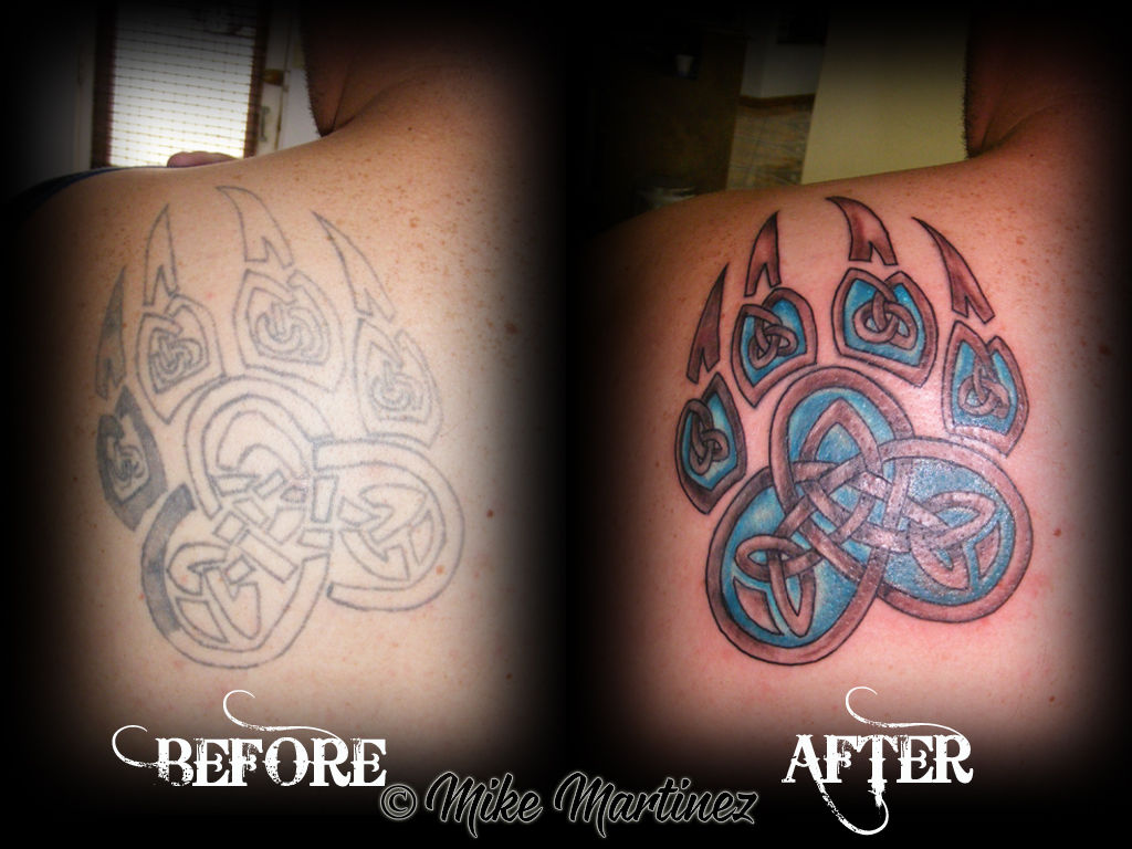 Mikemartineztattoorepair Of A Celtic Knot Bear Paw Celtic Knot