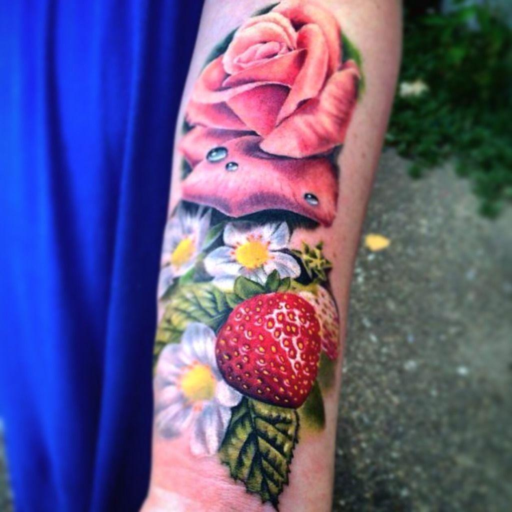 Lars krutak tatu lu tattoos from the dreamtime lars krutak - Lizvenom Amazing Realistic Strawberry Fruit Flower Tattoo By