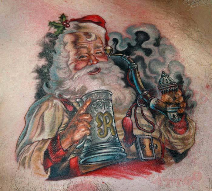 Johnythief santa johnny thief seppuku tattoo nj tattoo for Tattoo artist new jersey