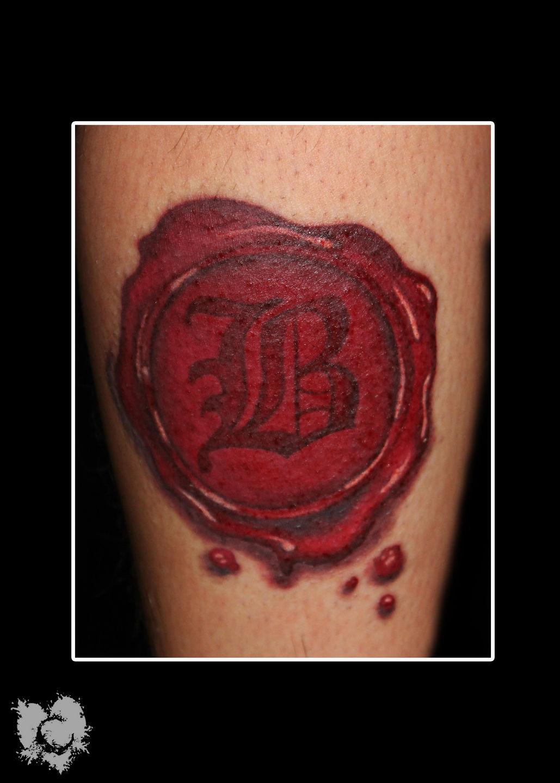 Ceejay wax seal tattoo color eternal ink stencil stuff for Stencil stuff tattoo