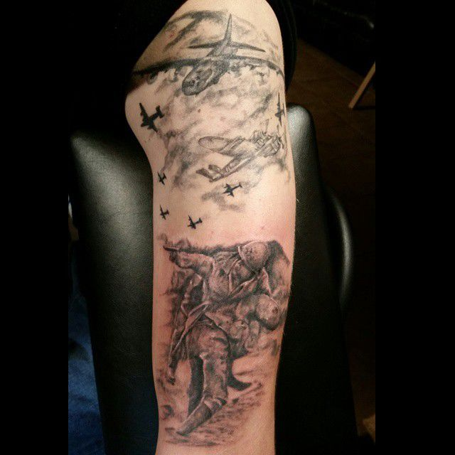 Undergroundtattoo:vetrens-day-airplane-veteran-tattoos