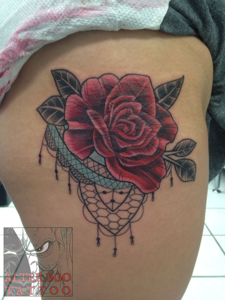 Lace Rose Tattoos