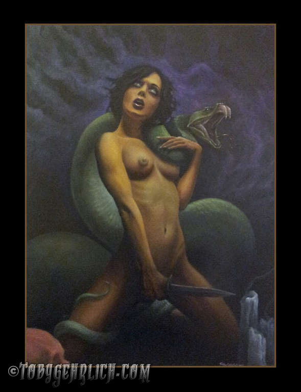 Painting-snake-girl-dagger-164-jpg