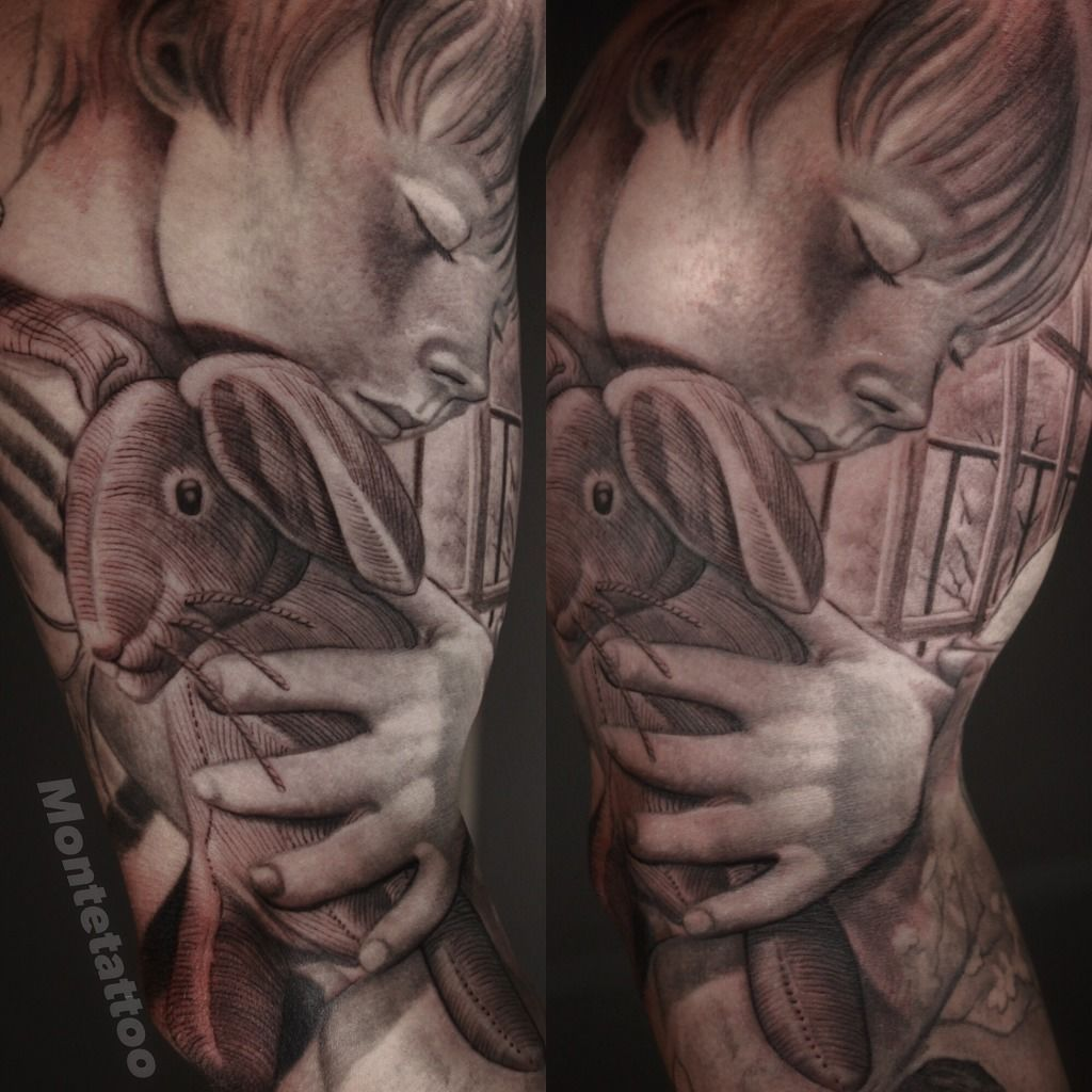 Montetattoo:the-velveteen-rabbit-arm-tattoo-tattoo