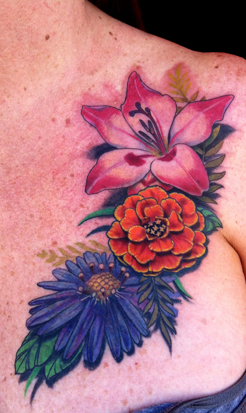 latest marigold tattoos