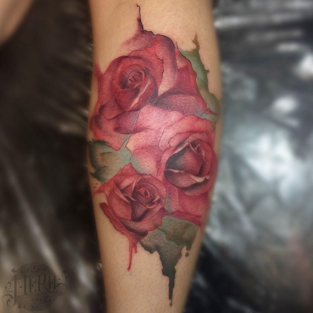 mero:watercolor-roses-watercolor-roses-nose-nativesoultattoo-mero ...