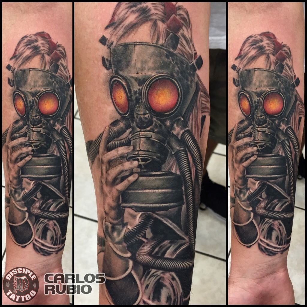 44 best gas mask tattoos collection - Phone Upload Png
