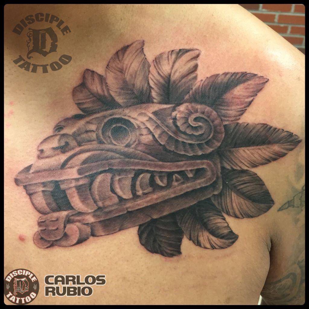 Carlosrubio Aztec God Aztec Mexican Black Grey Black And Grey Realism Tattoo Disciple Tattoo